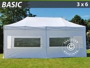 FleXtents pop up canopy 3x6 m basic set,  white
