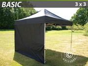 Folding canopy FleXtents 3x3 m basic set Black
