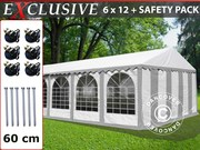 Sale! Marquee Plus 6x12 m PVC Grey/white