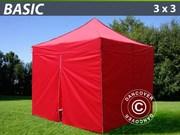 Folding canopy FleXtents 3x3 m basic set Red