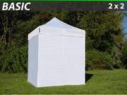 Folding canopy FleXtents 2x2 m basic set White