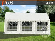 3x6 m PE Partytent plus White