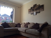 L Shaped Beige Sofa with scatter cushions for sale - Dublin 3 Area