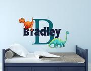 Dinosaur Initial Name Wall Decal