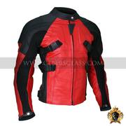 Quality Armored Style Deadpool Bikers Leather Jacket In USA