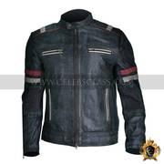 Quality Men Vintage Biker Retro Motorcycle Cafe Racer Jacket