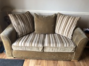 Two seater sofa bed.
