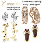 Custom Wholesale 925 silver earrings jewelry OEM