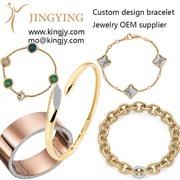 Australia wholesaler custom Gold-plated-copper bracelet